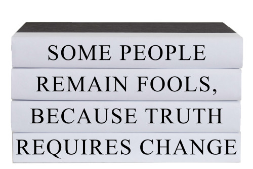 The Truth Requires Change Quote Book Stack, S/4
