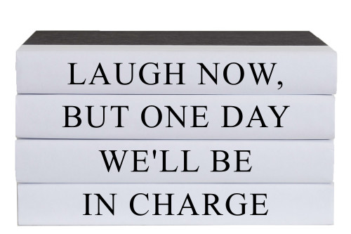 Laugh Now Quote Book Stack, S/4