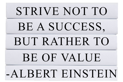 Strive To Be of Value Quote Book Stack, S/5