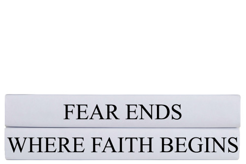Where Faith Begins Quote Book Stack, S/2