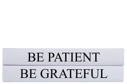 Be Grateful Quote Book Stack, S/2