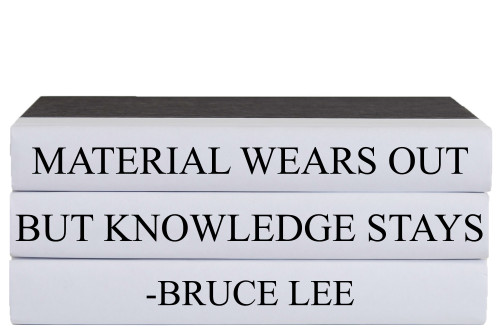 Knowledge Quote Book Stack, S/3