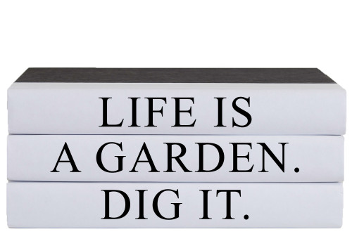 A Garden Quote Book Stack, S/3