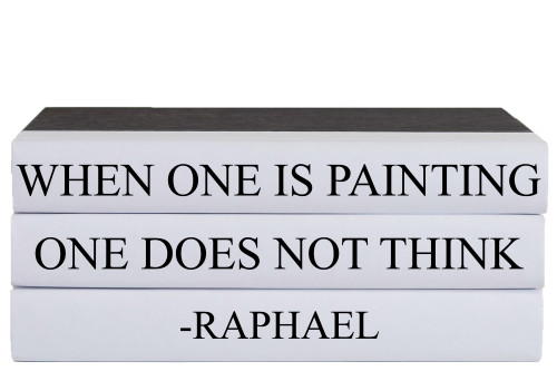 Painting Quote Book Stack, S/3