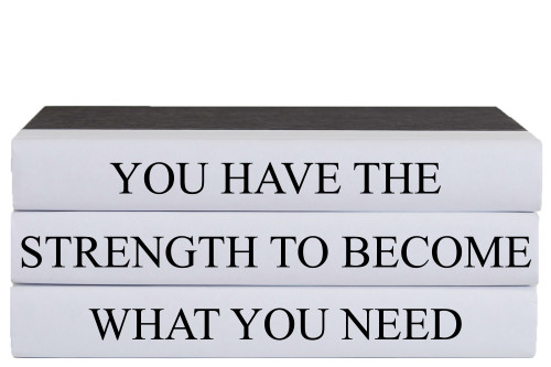 You Have The Strength Quote Book Stack, S/3