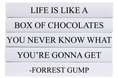 Box of Chocolates Quote Book Stack, S/5