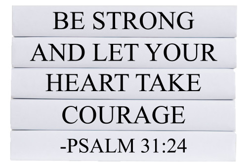 Be Strong Quote Book Stack, S/5