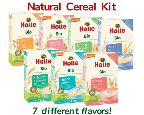 7 Boxes Variety Pack Holle Organic Porridge Cereal