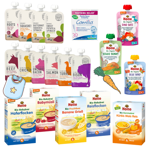Collection of our popular baby foods. Suitable for babies from 6 months.