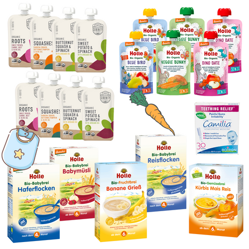 Collection of our popular vegan baby food. Suitable from 6 months.