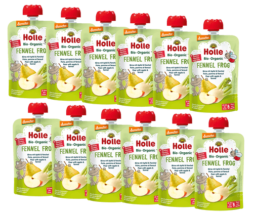 12 Pouches Of Pear, Apple & Fennel Puree