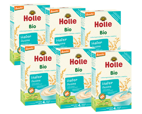 6 Boxes Of Holle Oatmeal Organic Porridge Cereal