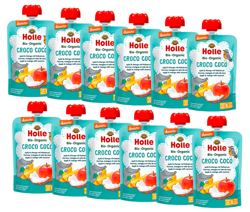 12 pack of Holle Apple & Mango with Coconut