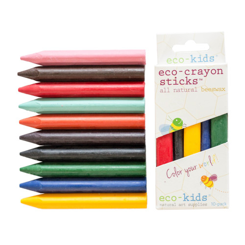 10 Pack Eco-Crayon Sticks