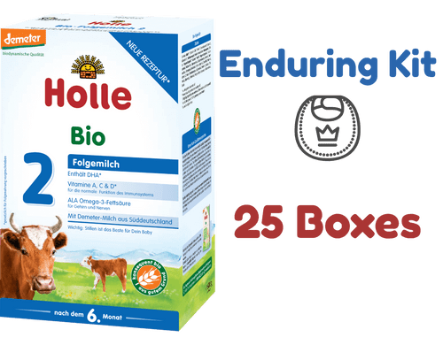 25 Boxes of Holle Stage 2 Organic (Bio) Follow-on Infant Milk Formula (600g) - Enduring Kit