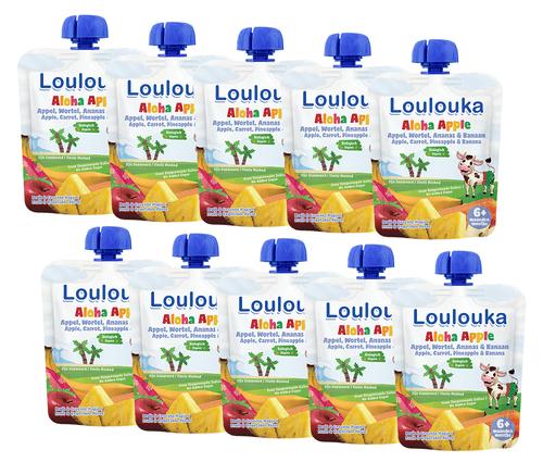 20 Pack Loulouka Puree with Apple, Carrot, Pineapple & Banana
