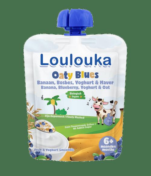 Loulouka Puree with Banana, Blueberry, Yogurt & Oat
