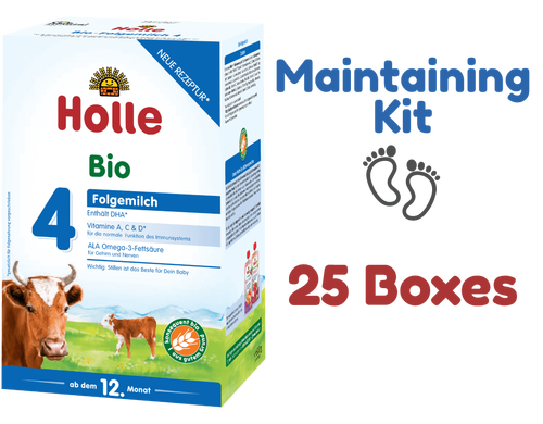 25 Boxes of Holle Stage 4 Organic Growing-up Toddler Milk Formula (600g) - Maintaining Kit