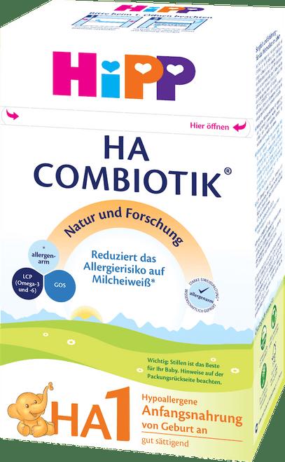 HiPP Hypoallergenic (HA) Stage 1 Combiotic Infant Milk Formula (600g) - German Version
