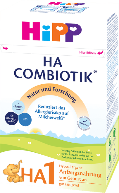 HiPP Hypoallergenic (HA) Stage 1 Combiotic Infant Milk Formula (600g) - German Version