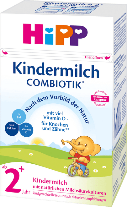 HiPP 2+ Years Combiotic Childrens' Milk (Kindermilch) Formula (600g)