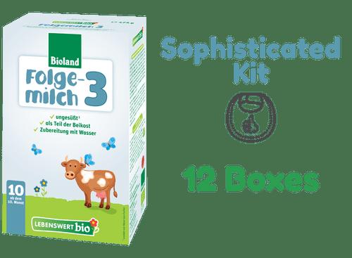 12 Boxes of Lebenswert Stage 3 Organic (Bio) Baby Milk Formula (475g) - Sophisticated Kit