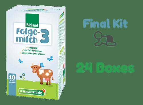 24 Boxes of Lebenswert Stage 3 Organic (Bio) Baby Milk Formula (475g) - The Final Kit