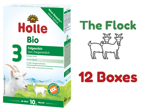 12 Boxes of Holle Goat Stage 3 Organic (Bio) Baby Milk Formula (400g) - The Stage 3 Flock