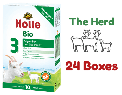 24 Boxes of Holle Goat Stage 3 Organic (Bio) Baby Milk Formula (400g) - The Stage 3 Herd