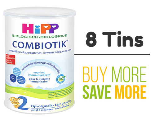 8 Pack of HiPP Stage 2 Organic (Bio) Combiotic Follow-on Milk Formula (800g) - Dutch Version
