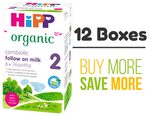 12 Pack of HiPP Stage 2 Combiotic Follow-on Infant Milk Formula (800g) - UK Version