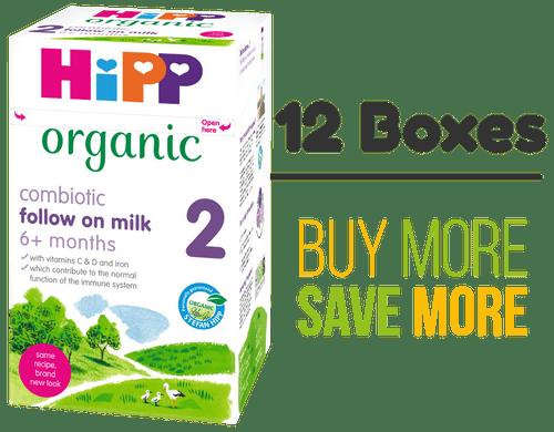 12 Pack of HiPP Stage 2 Combiotic Follow-on Infant Milk Formula (800g) - UK Version