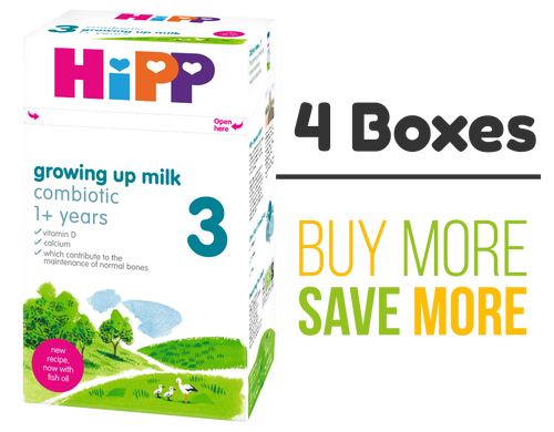 4 Pack of HiPP Stage 3 Combiotic Growing Up Baby Milk Formula (600g) - UK Version