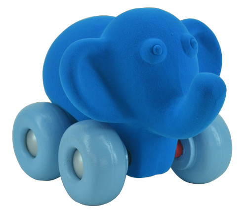 Blue Elephant on Blue Wheels