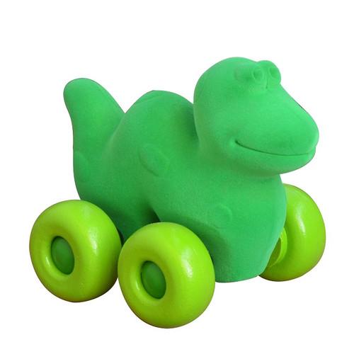 Green Dinosaur on green Wheels