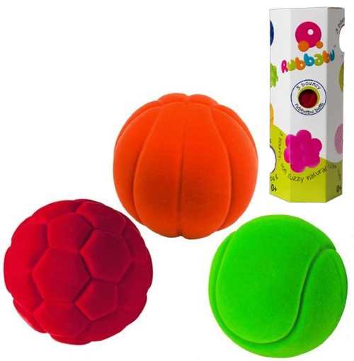 Red, orange and green balls