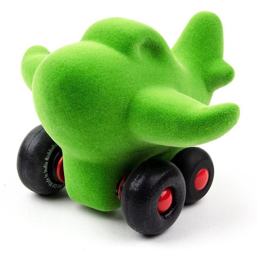 Green Airplane on Wheels
