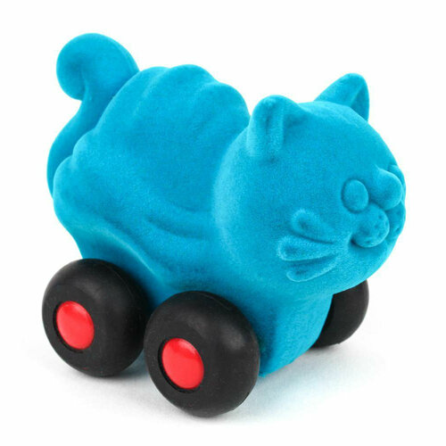 Turquoise Cat on wheels