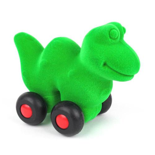 Green snake on wheels