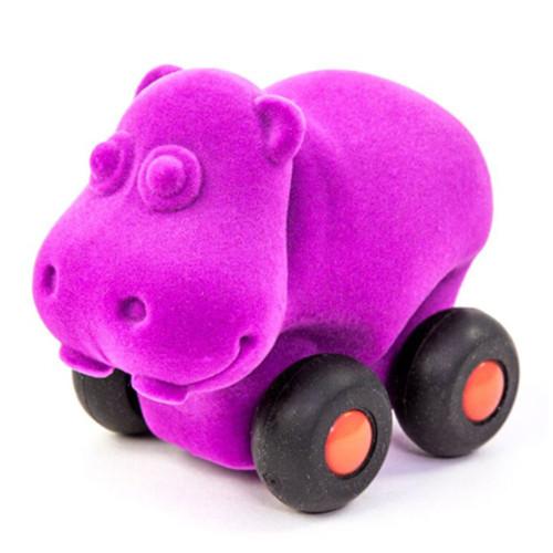 Purple Hippo on wheels