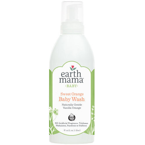Bottle of Earth Mama Sweet Orange Baby Wash