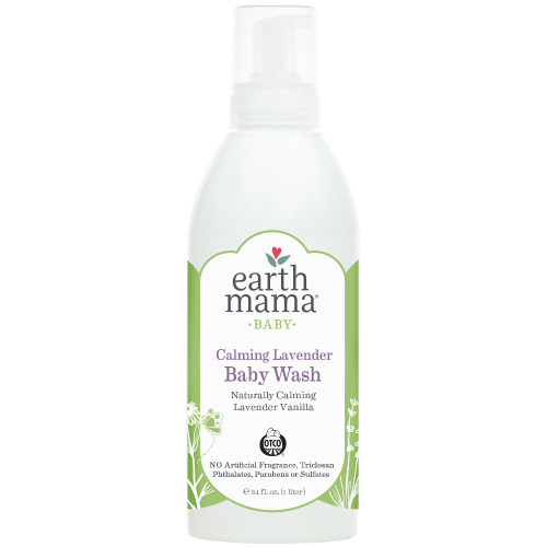 Bottle of Earth Mama Calming Lavender Baby Wash
