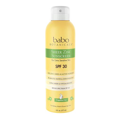 Sheer Zinc Sunscreen Spray - Fragrance Free
