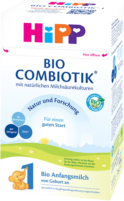 HiPP Stage 1 Organic (Bio) Combiotic Infant Milk Formula (600g) - German Version