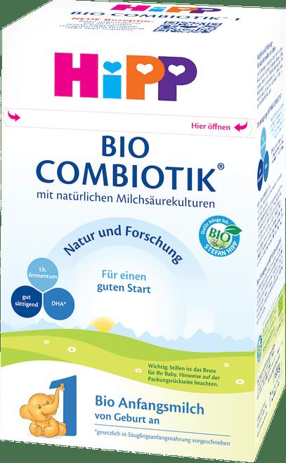 HiPP Stage 1 Organic (Bio) Combiotic Infant Milk Formula (600g) - German Version