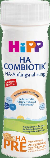 6 Pack of Premixed HiPP HA Stage PRE Combiotic Infant Milk Formula (200ml) - German Version