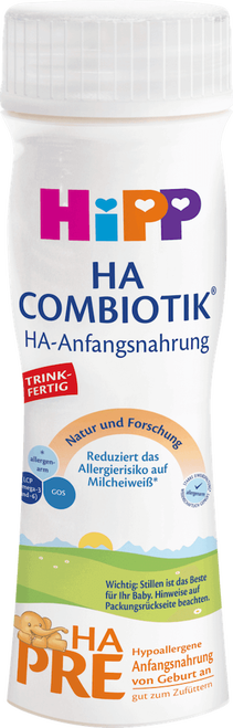 12 Pack of Premixed HA Stage PRE Combiotic Infant Milk Formula (200ml) - German Version