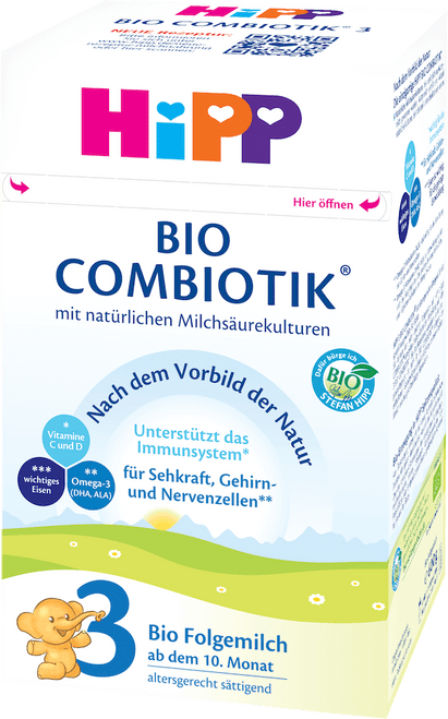 HiPP Stage 3 Organic (Bio) Combiotic Baby Milk Formula (600g) - German Version