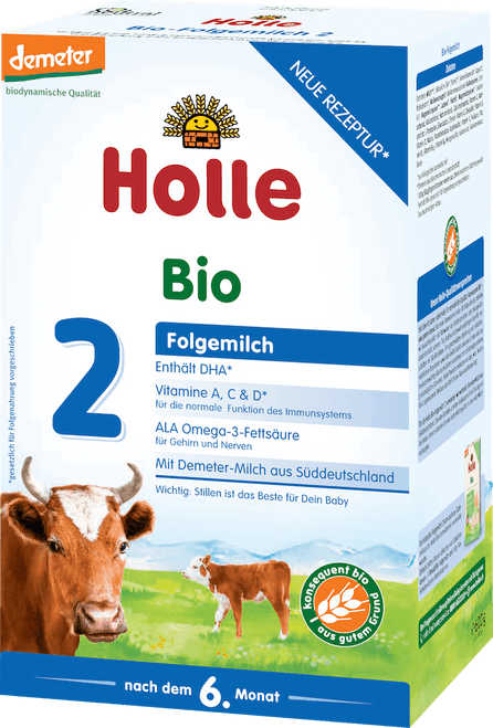Holle Stage 2 Organic (Bio) Follow-on Infant Milk Formula (600g)