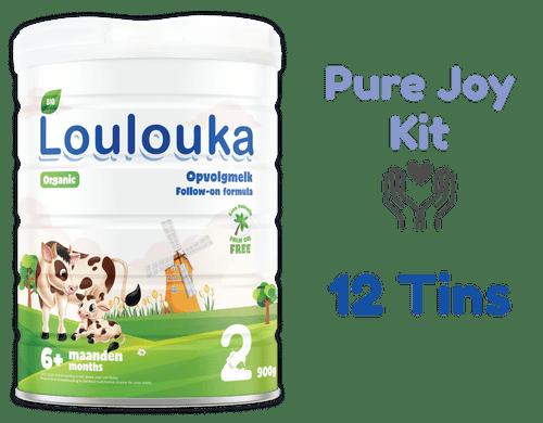 12 Tins of Loulouka Stage 2 Organic (Bio) Infant Milk Formula (900g) - LouLou Pure Joy Kit